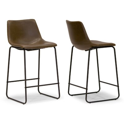 Adan 23.5 Bar Stool Upholstery: Brown