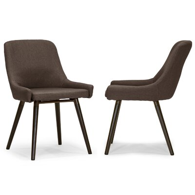 Ade Side Chair Upholstery: Taupe