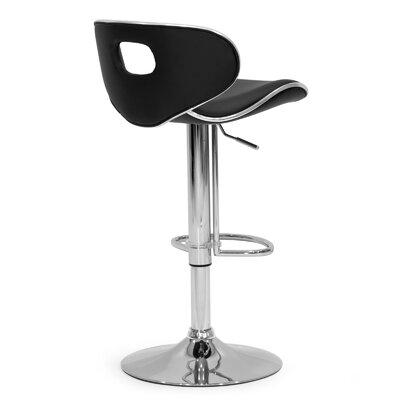 Adjustable Height Swivel Swivel Bar Stool Upholstery: Black
