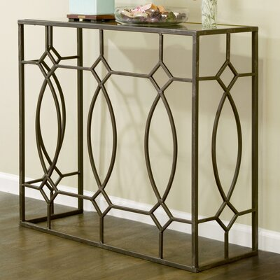 Aaralyn Mirrored Console Table