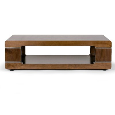 Airlie Modern Coffee Table Color: Walnut