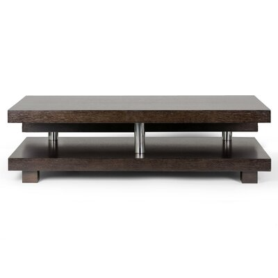 Alain Modern Coffee Table Finish: Dark Brown