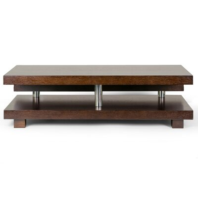 Alain Modern Coffee Table Color: Brown