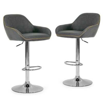 Alan Adjustable Height Swivel Bar Stool