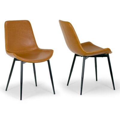 Alary Faux Leather Modern Side Chair