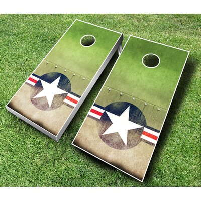 10 Piece US Air Force Cornhole Set Bean Bag Color: Red/Black
