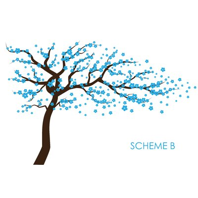 Cherry Blossom Tree Wall Decal Color: Scheme B