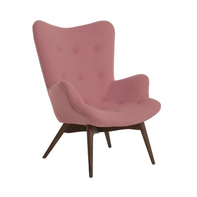 Aarhus Mid Century Arm Chair Upholstery: Soft Pink
