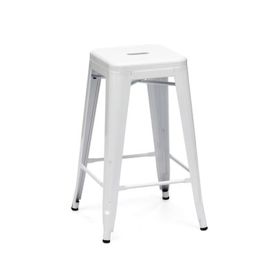 Halie 26 Bar Stool Finish: Glossy White