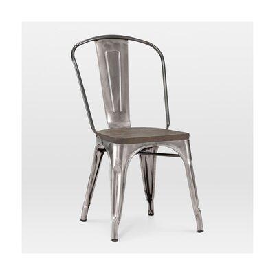 Halie Side Chair Base Finish: Clear Gunmetal, Upholstery: Elm