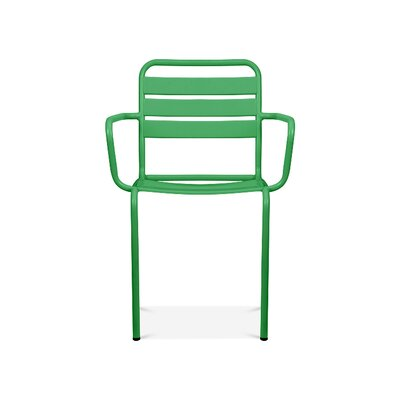 Paris Arm Chair Finish: Glossy Green