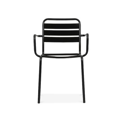 Paris Arm Chair Finish: Glossy Black