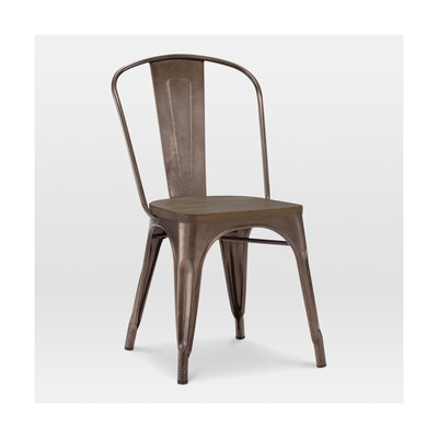 Halie Side Chair Base Finish: Rustic Matte, Upholstery: Elm
