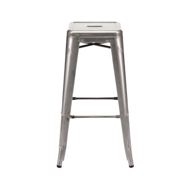 Halie 30 Bar Stool Finish: Clear Gunmetal
