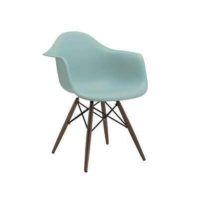Trige Arm Chair Seat Finish: Surfin, Leg Finish: Walnut