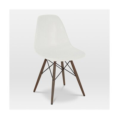 Trige Solid Wood Dining Chair Frame Color: Walnut, Seat Color: Almond