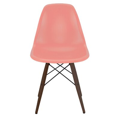 Trige Solid Wood Dining Chair Frame Color: Walnut, Seat Color: Peach
