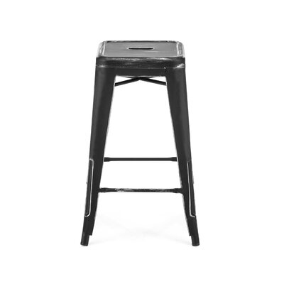 Halie 26 Bar Stool Finish: Matte Black