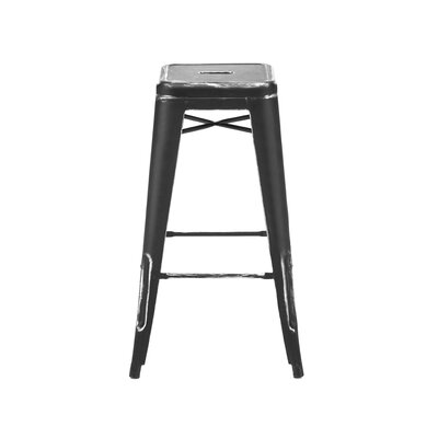 Halie 30 Bar Stool Finish: Matte Black