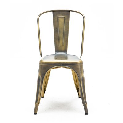 Halie Side Chair Finish: Vintage Brass