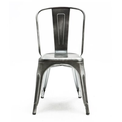 Halie Side Chair Finish: Vintage Dark Grey