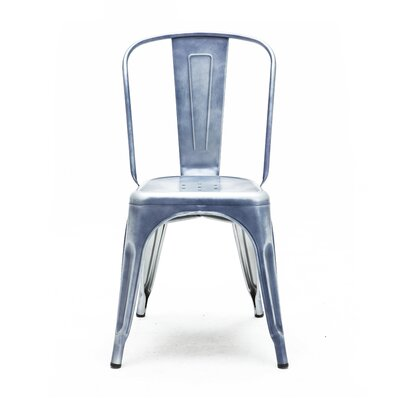 Halie Side Chair Finish: Blue
