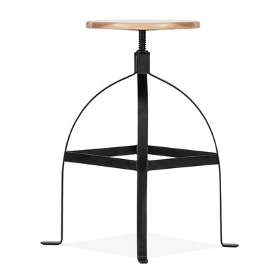 Adjustable Height Swivel Bar Stool Base Finish: Black