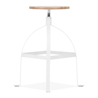 Adjustable Height Swivel Bar Stool Base Finish: White
