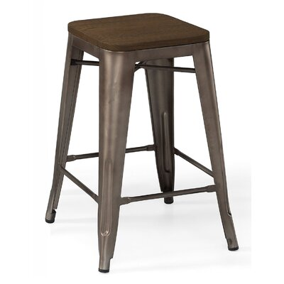 Halie 26 Bar Stool Frame Color: Rustic Matte