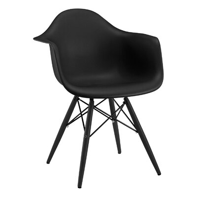Trige Solid Wood Dining Chair Frame Color: Black, Seat Color: Black