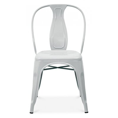 Side Chair Finish: Glossy Silver