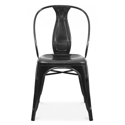 Side Chair Finish: Glossy Black