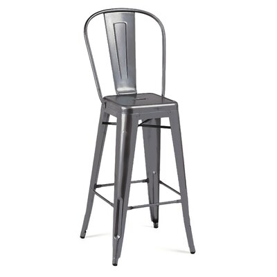 Halie 30 Bar Stool Finish: Dark Gunmetal