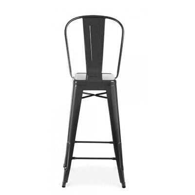 Halie 30 Bar Stool Finish: Glossy Black