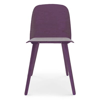 Solid Wood Dining Chair Finish: Purple