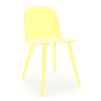 Solid Wood Dining Chair Color: Yellow