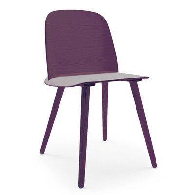 Solid Wood Dining Chair Color: Purple