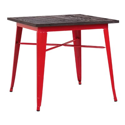 Halie Dining Table Base Finish: Glossy Red