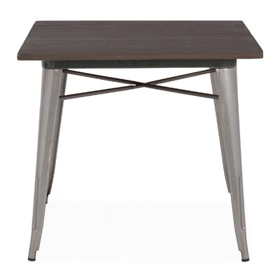 Halie Dining Table Base Finish: Clear Gunmetal
