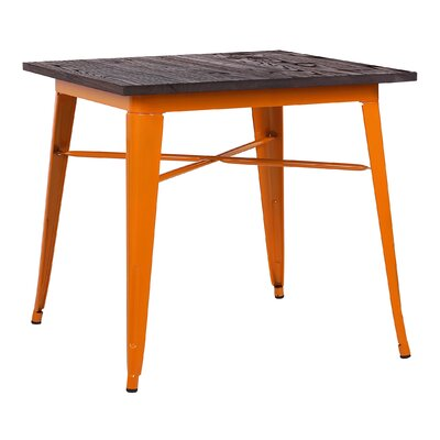 Halie Dining Table Base Finish: Glossy Orange