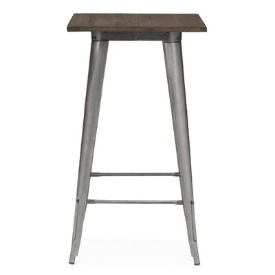 Halie Pub Table Finish: Clear Gunmetal