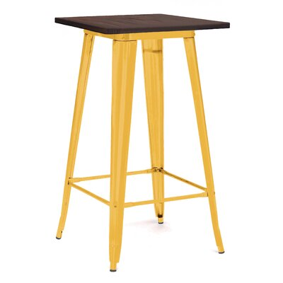 Halie Pub Table Finish: Glossy Yellow