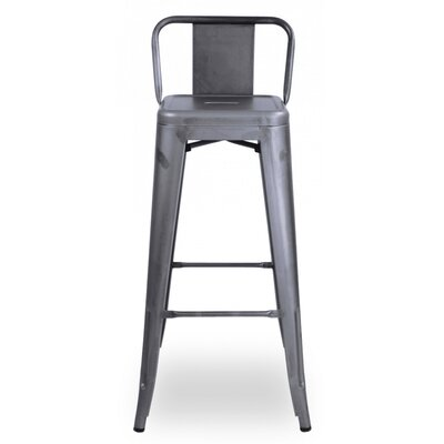 Halie 29.5 Bar Stool Finish: Dark Gunmetal