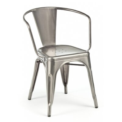 Halie Dining Chair Color: Clear Gunmetal