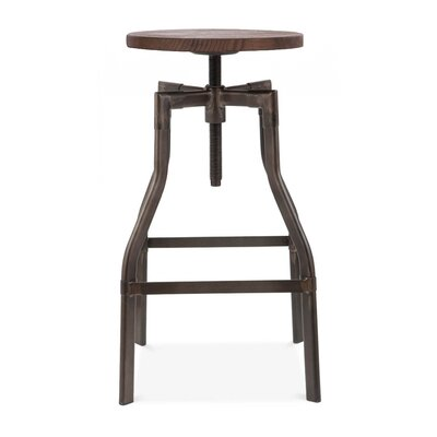 Machinist Adjustable Height Swivel Bar Stool Finish: Rustic Matte