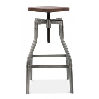 Machinist Adjustable Height Swivel Bar Stool Finish: Gunmetal