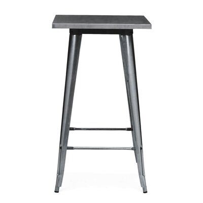 Halie Pub Table Finish: Dark Gunmetal