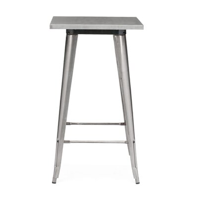 Halie Pub Table Color: Clear Gunmetal