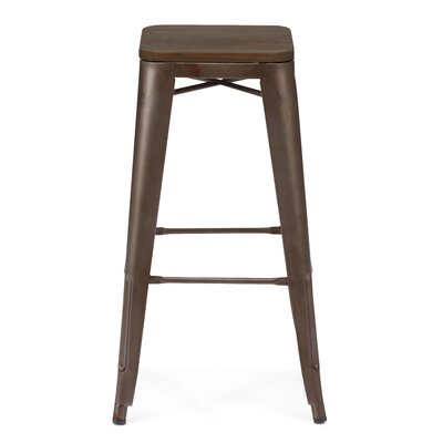 Halie 30 Bar Stool Base Finish: Rustic Matte