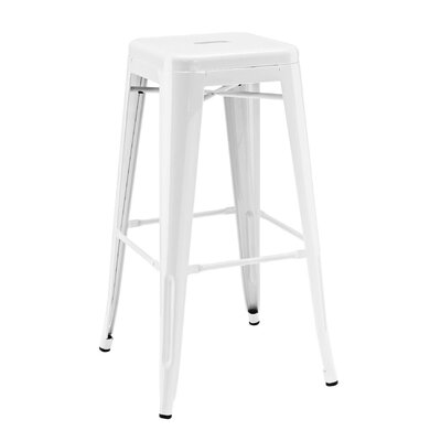 Halie 30 Bar Stool Finish: Glossy White
